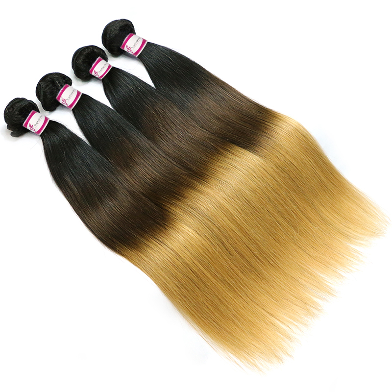 Ombre Hair 3 Colors Brazilian Hair Straight 1B/4/27