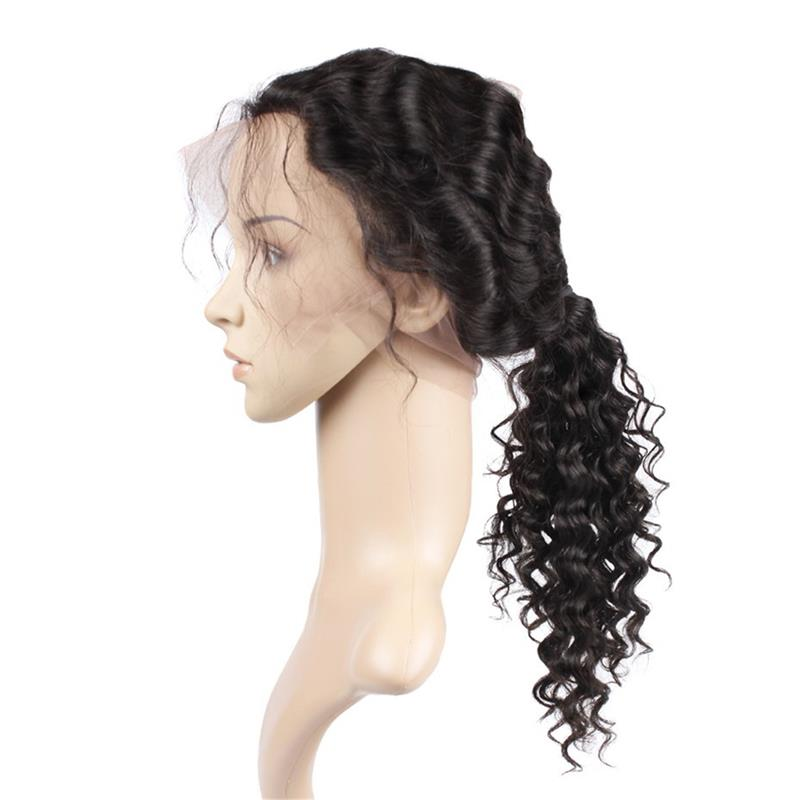 Wholesale 360 Lace Frontal Deep Wave Brazilian Hair for 130% 150% and 180%