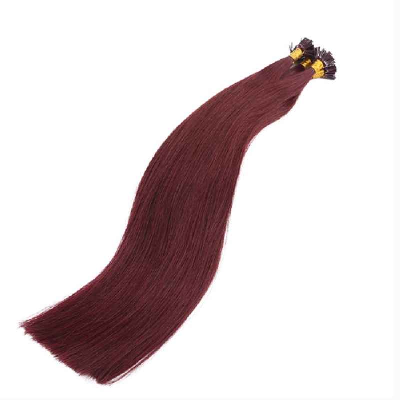 Flat Tip Hair Extensions - Reds