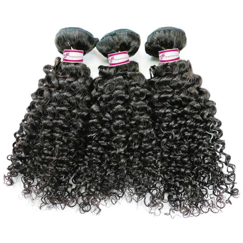 7A brazilian curly human hair weave