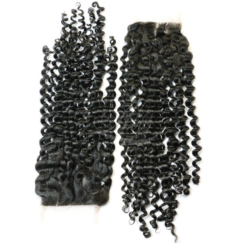 Brazilian Curly Lace Closure Three Part