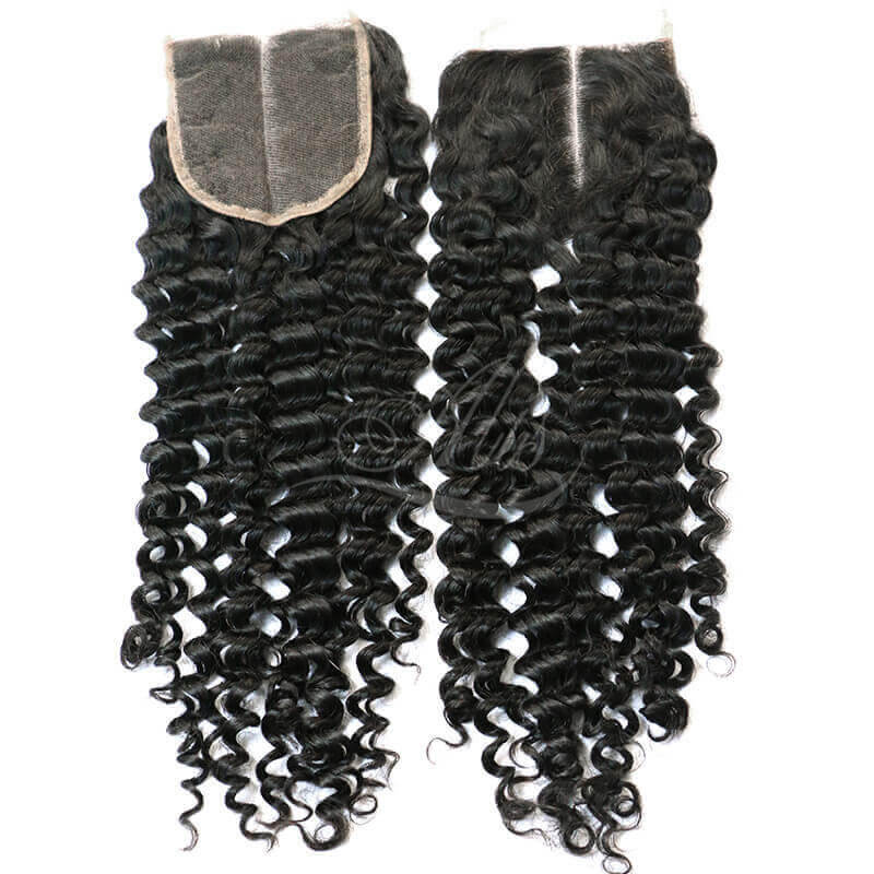 Free Part Closure Brazilian Hair Deep Wave