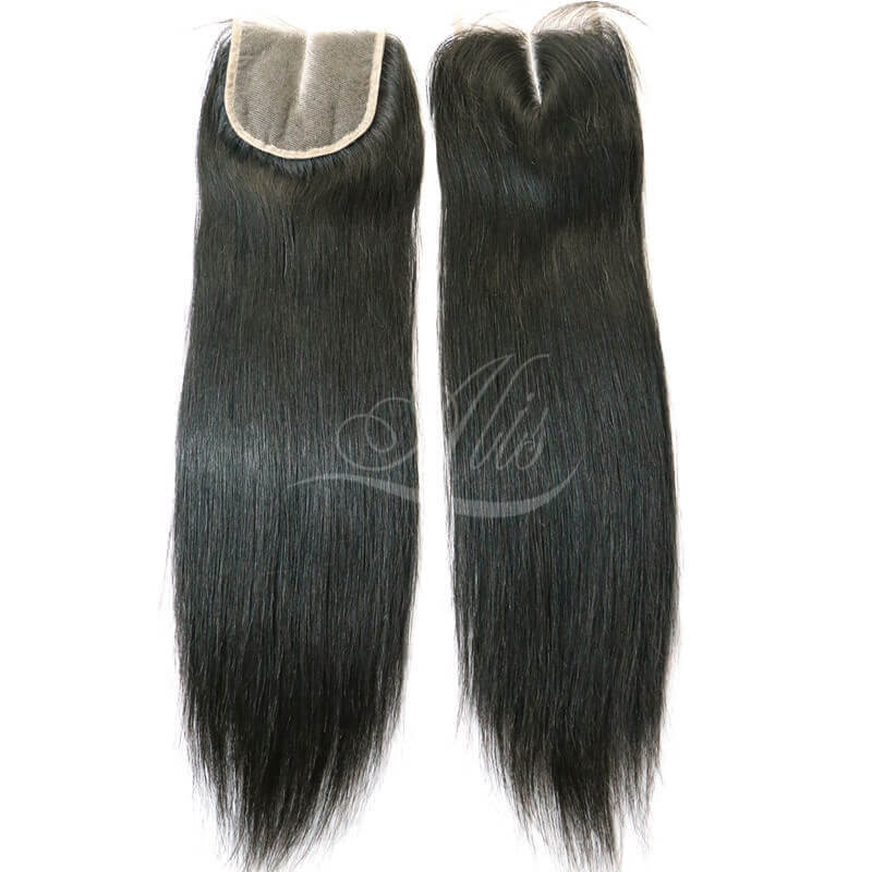 Brazilian Hair Middle Part Straight Hair Lace Closure