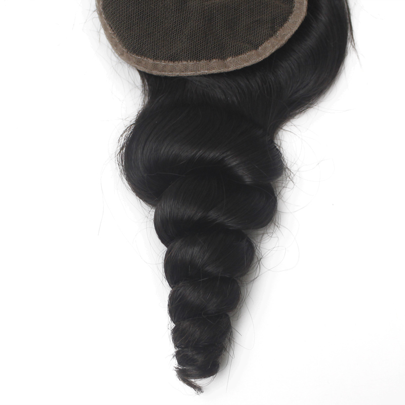Loose Wave Brazilian Hair Lace Closure Middle Part