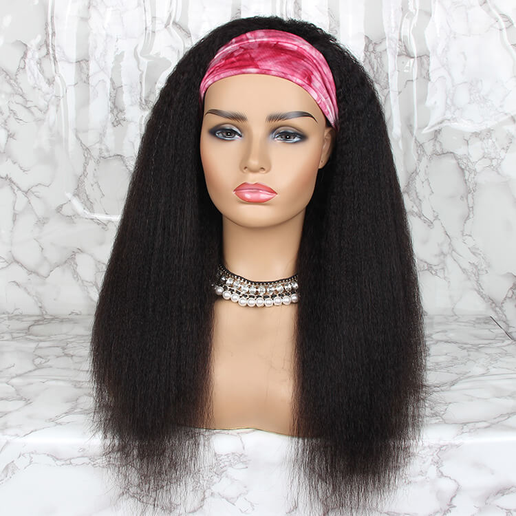 Capless Curly Headband Wig