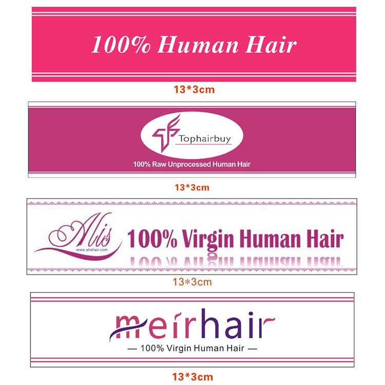 Private Hair Extensions Labels - Custom Hair Labels For Free