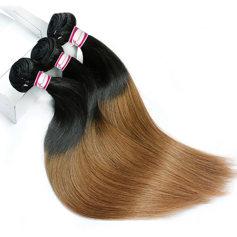 ombre hair straight brazilian dark brown ombre 1B/30 Color