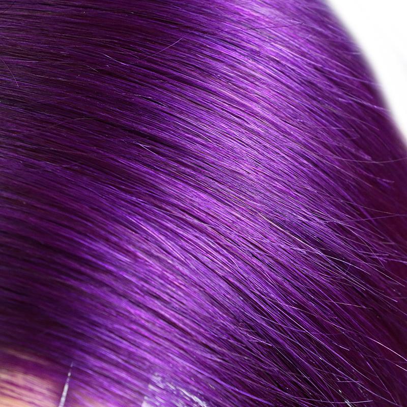 Purple Ombre Hair Brazilian Straight Ombre Color Hair 1B/Purple