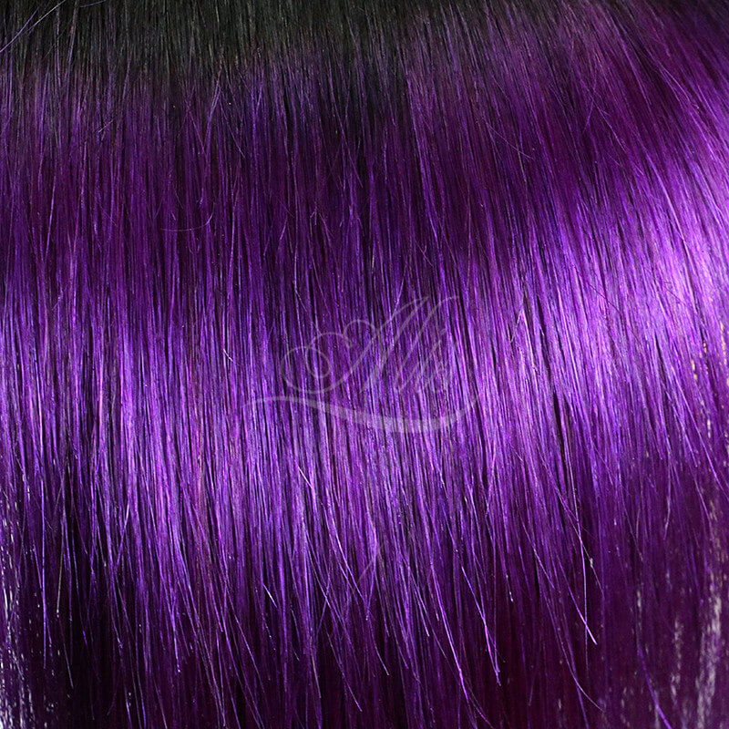 Purple Ombre Hair Brazilian Straight Ombre Color Hair 1B/Purple