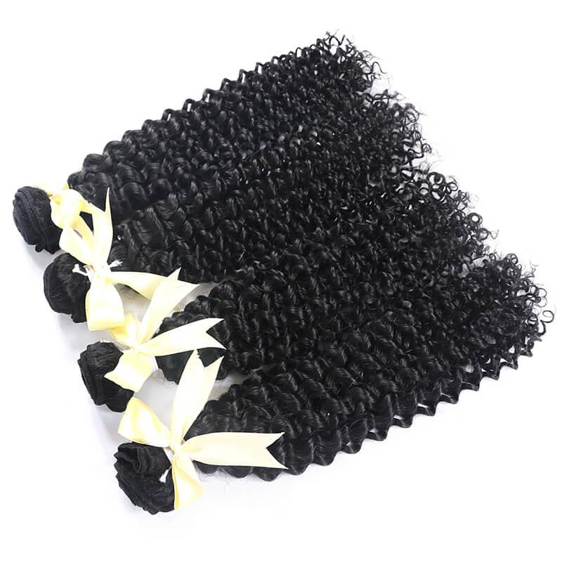 11A Best virgin brazilian curly human hair weave
