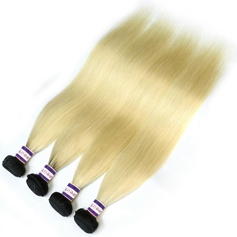 Light Blonde Ombre Hair Brazilian Straight 1B/613