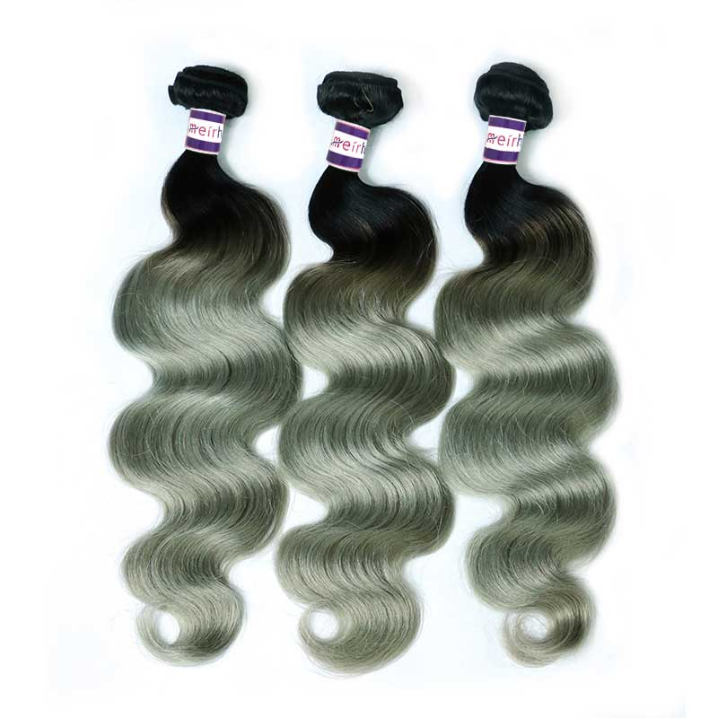 Ombre Brazilian Body Wave Hair 1B/Gray