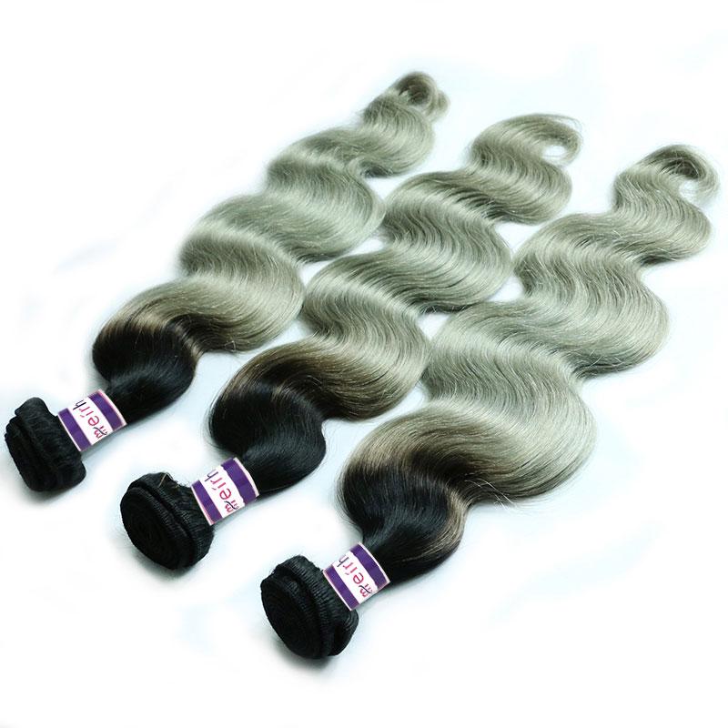 Ombre Brazilian Body Wave Hair 1B/Gray