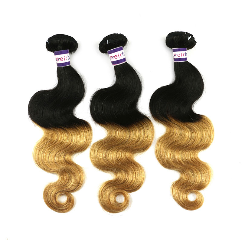 Blonde Black Ombre Hair Body Wave Hairstyles Color 1B/27