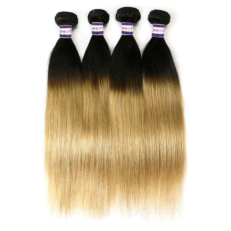 Black Hair Blonde Ombre Brazilian Straight Hair 1b/27