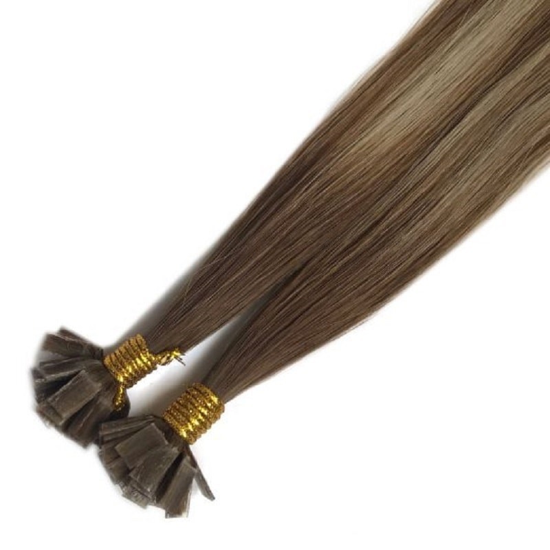 Flat Tip Hair Extensions - Browns