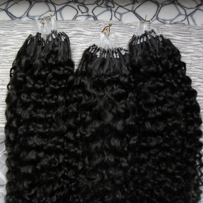 Micro Ring Hair Extensions - Kinky Curly