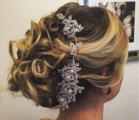 updo hair for woman