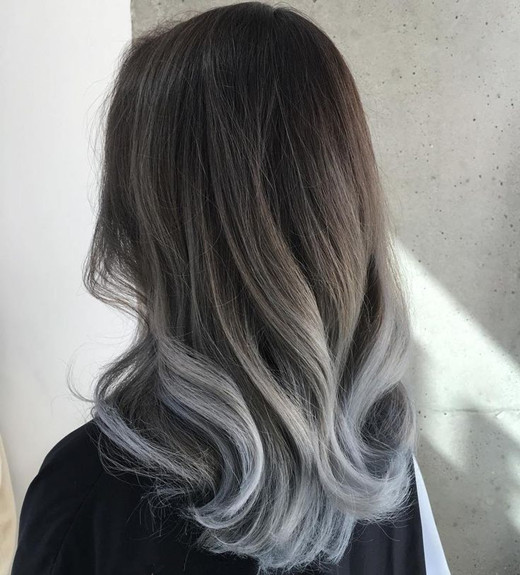 black gray ombre hair