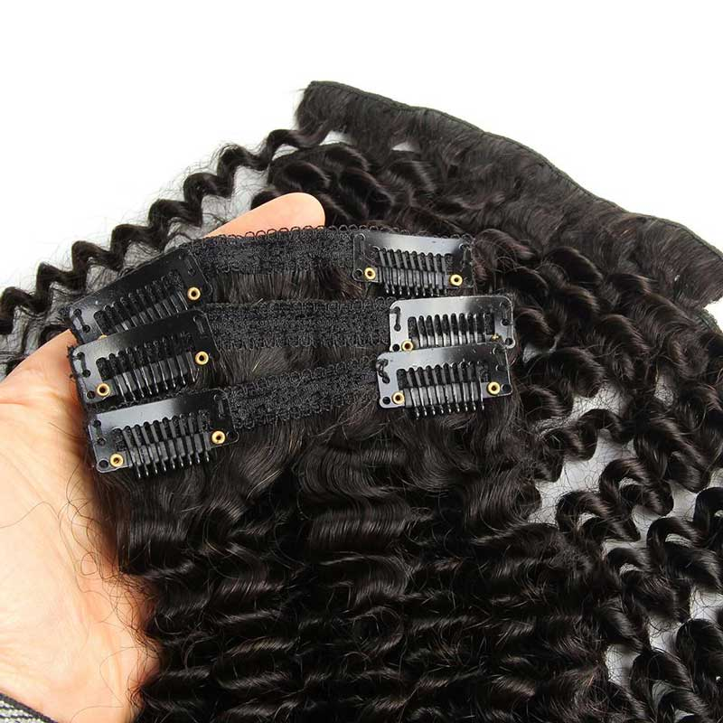 Kinky Curly Clip in Hair Extensions