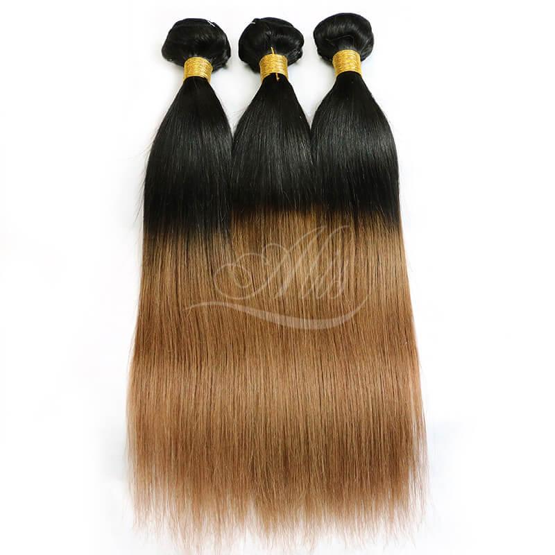 Ombre Hair Straight Brazilian Hair Dark Brown Ombre 1b 30 Color