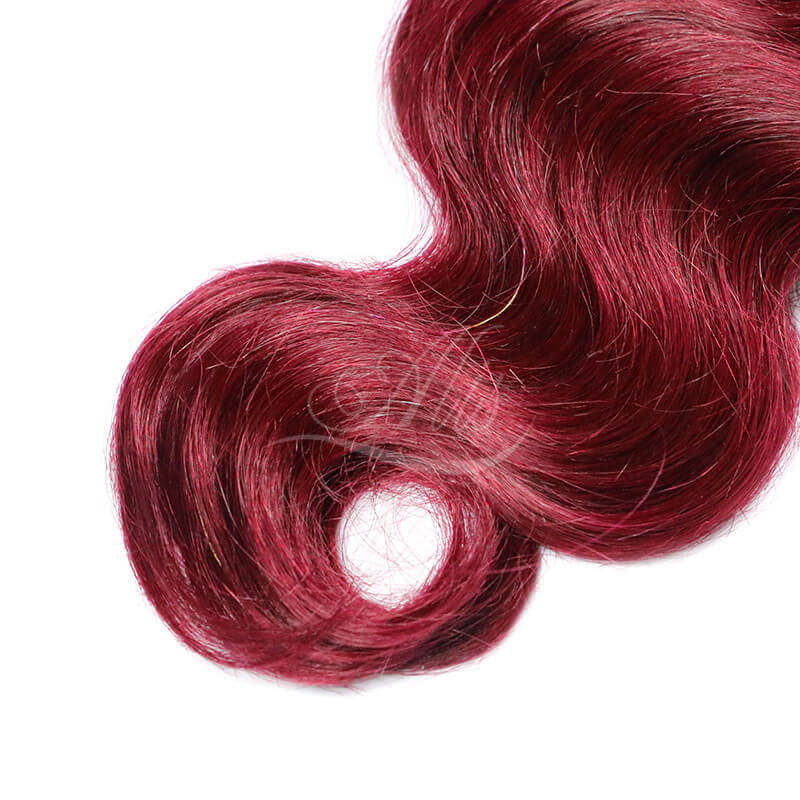 Colored Human Hair Extensions Body Wave Colored Hair 1b99j