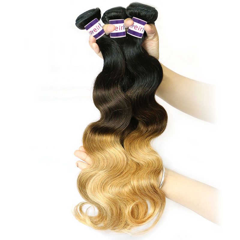 Ombre Brazilian Body Wave Hair 3 Tone Colors 1B/427