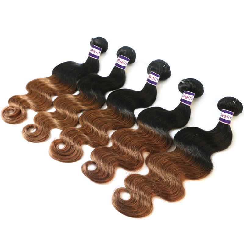 black hair brown ombre color 1B/30